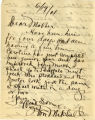 Letter to Harriet Mitchell from William Mitchell