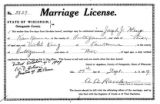 Marriage license: Joseph J. Heup to Violet King, 1909