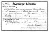 Marriage license: Henry Haen to Rose Kromer, 1909