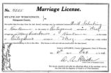 Marriage license: Emil Schubring to Mary Assenbauer, 1910