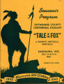 "Souvenir Program Outagamie County Centennial Pageant ""Tale of the Fox"" Kaukauna, WIS...."