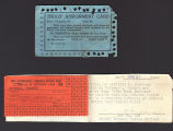 Tobacco ration card and meal card, 1940-1945