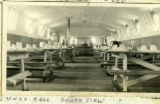 Mess hall interior, CCC Camp 657, 1937-1938