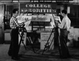 Sign painting, 1940s