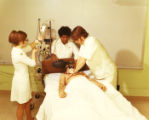 Inhalation Therapy demonstration (Respiratory Therapy)3-12-1971