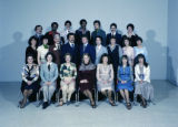 Group photo of Barbering and Cosmetology class - 4/19/1978