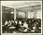 "Milwaukee Continuation School (MCS) typing class. Handwritten note at top of image reads ""M...."
