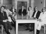 1958 Vocational School Board (L-R) Richard S. Falk, Harold W. Story (secretary), Otto A. Jirikowic...