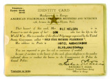 WWI Gold Star Mothers Identity Card