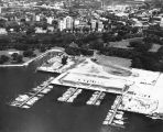 Aerial view of the McKinley Marina