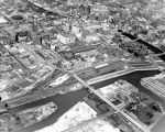 Aerial view of central Milwaukee