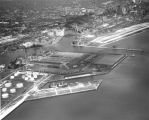 Aerial view of harbor and Port of Milwaukee