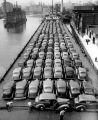 Record cargo of automobiles to enter Milwaukee up to that time