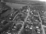 Aerial view of Main Street Oconto Falls (Wis.) from east (bottom) to west (top)