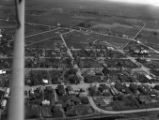Aerial view of downtown Oconto Falls (Wis.) in 1949