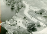 Aerial photo of ice house and pasture, Oconto Falls (Wis.)