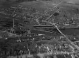 Aerial photo of the paper mill, Oconto Falls (Wis.)