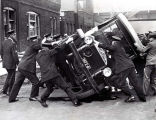 Remember When...pickets overturned a patrol wagon?
