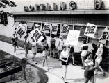 Remember When...models picketed to announce that beer was back?