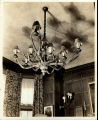 Untitled (Antler Chandelier and Wall Sconce)