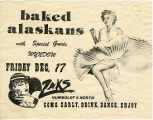 Baked Alaskans at Zak's