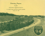 Highway Dedication Programs - Interstate 94 - Hudson to Eau Claire - October 29, 1959