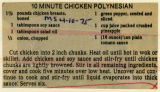 10-Minute Chicken Polynesian