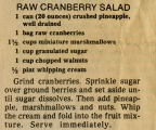 Raw Cranberry Salad