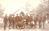 Group Portrait of Officers in 3rd Battalion with 4th Wisconsin at Camp Douglas
