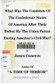 What was the Condition of the Confederate States of America After Their Defeat by the Union Forces...