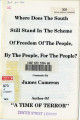 Where Does the South Still Stand in the Scheme of Freedom of the People, By the People, For the...