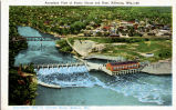 Aeroplane View of Power House and Dam, Kilbourn, Wis. - 34