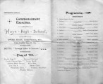 1894 Howe High School commencement program