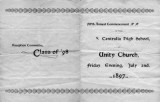 1897 Centralia High School commencement program