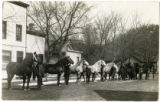 10 Percheron Horses, Mill Street looking northeast between Main Street and Central Avenue,...