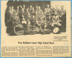 1st Richland Center High School Band, Richland Center, Wisconsin, 1910