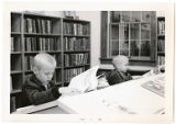 2 Boys looking at Books during the Dedication for Brewer Public Library, Richland Center,...