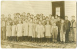 Gillingham School Students, Marshall Township, Richland County, Wisconsin, 1909.