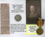 Fred Gundry World War I collage