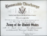 Honorable Discharge from the Armed Forces of the United States of America