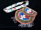 Beaded pouch and headband