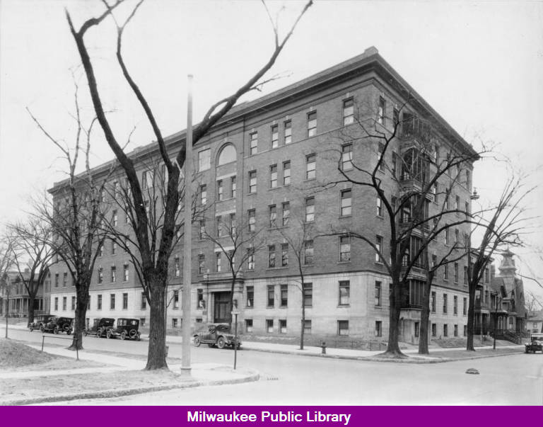 Mt  Sinai Hospital main building - Milwaukee Public Library Historic
