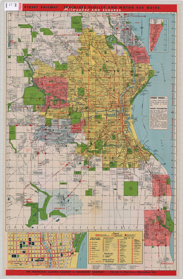 Milwaukee County (Wisconsin) 1948 [FRONT] - Milwaukee Map Collection ...