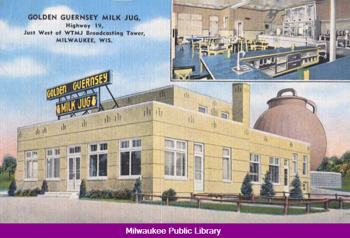 Remember When   the famous Milk Jug restaurant was on Blue