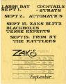 September concerts at Zak's