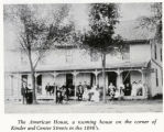 American House, corner of Kinder Street and Central Avenue, Richland Center, Wisconsin, 1890's.